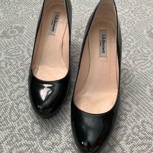 Black Patent LK Bennett heels